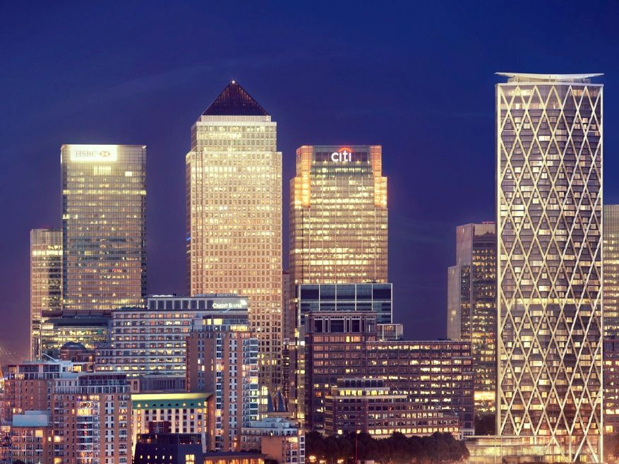 Canary Wharf projects near completion
